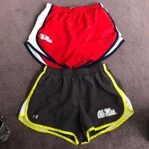 Ole Miss Nike running shorts, XS/S